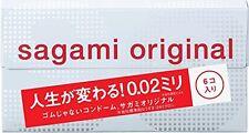 Japan Sagami Original 002 6 Pcs counts Ultra Thin men male Condom 0.02mm