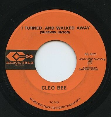 Rare Country 45 Cleo Bee I Turned And Walked Away