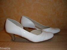 Brautpumps Pumps NEU Gr. 7,5 41,3 in weiß Lack- / & Nappaleder edel elegant
