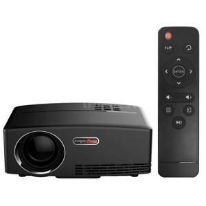 GP80 1800 Lumens 1080P LED Projector HD Multimedia Home Cinema VGA USB Q6P7