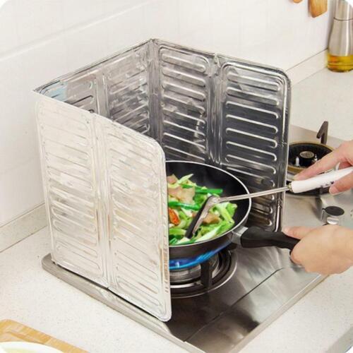 Cuisine écran Feuille D/'Aluminium Poêle Protection Housse anti huile Splash Cuisine Outil