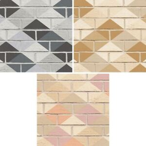 AS Creation Brick Pattern Wallpaper Kitchen Bathroom Diamond Faux
