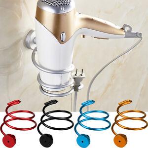 Wall-Hair-Dryer-Holder-Rack-Space-Aluminum-Bathroom-Wall-Holder-Shelf-Storage