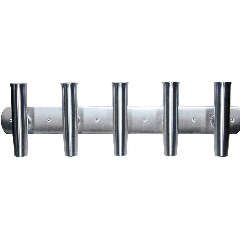 Tigress 88144 Barra de aluminio 35  montaje en espejo de popa cinco Portacañas Envío Gratis