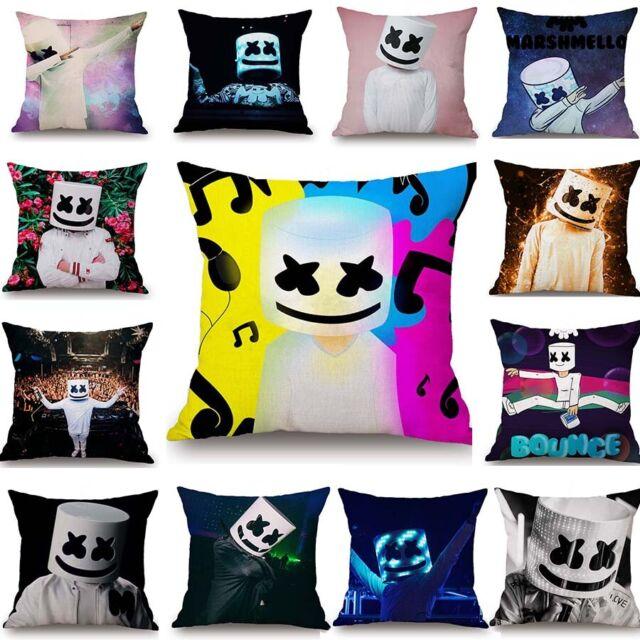 Home Decor DJ Singer Marshmello Pillowcase Marshmello Car Bed Sofa Pillow Case