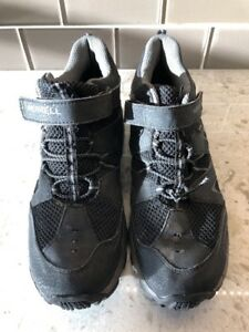 039f82c4463 Details about Merrell Boy's Hilltop Ventilator Mid Waterproof Hiking Boot  BlacK SZ 6.5M EUC