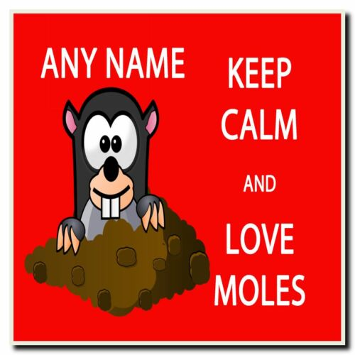 Keep Calm And Love Moles Personalised Drinks Mat Coaster