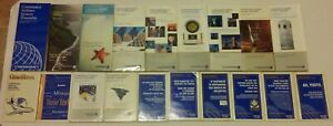 Continental-Airlines-timetable-lot-of-19-1995-99