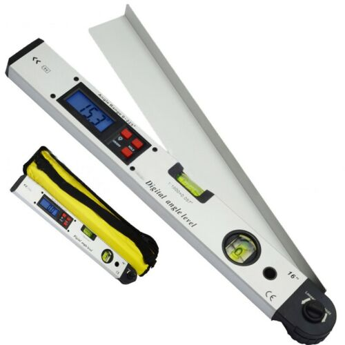 LCD Digital Protractor Inclinometer Meter Spirit Angle Level Finder 0~225°400MM#