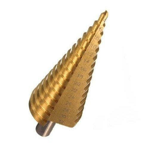 Stufenbohrer 4-32mm HSS für Metall, Eisen, Plastik und Holz.