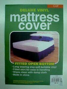 Cot Mattress Protector - Soft Vinyl