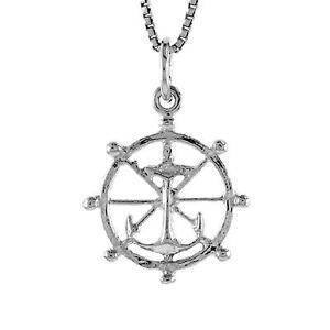 SURANO DESIGN JEWELRY Sterling Silver Necklace w//Anchor Pendant