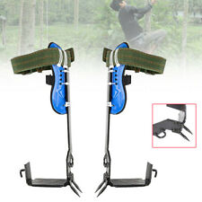 Tree Climbing Climbers Spike Hooks Gear Withset Safety Belt Adjustable Lanyard Us