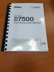 Details about NIKON DIGITAL SLR D7500 CAMERA PRINTED MANUAL USER GUIDE 382  PAGES A5