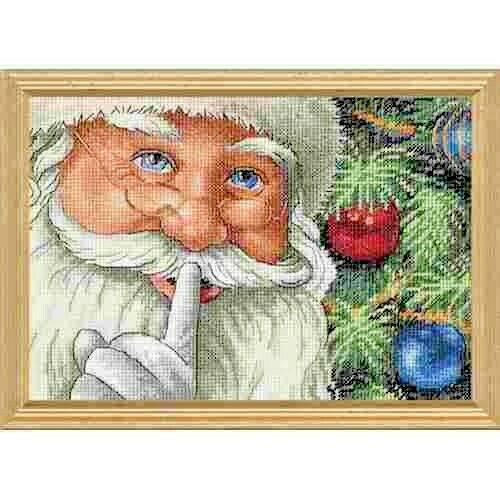 Counted Cross Stitch Kit SANTA/'s SECRET Christmas Dimensions Gold Collection