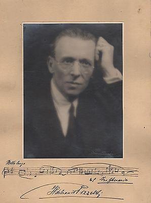 "Italian Composer Ildebrando Pizzetti Orig Vintage Amusqs Of ""fra Gherardo"" 100% High Quality Materials"