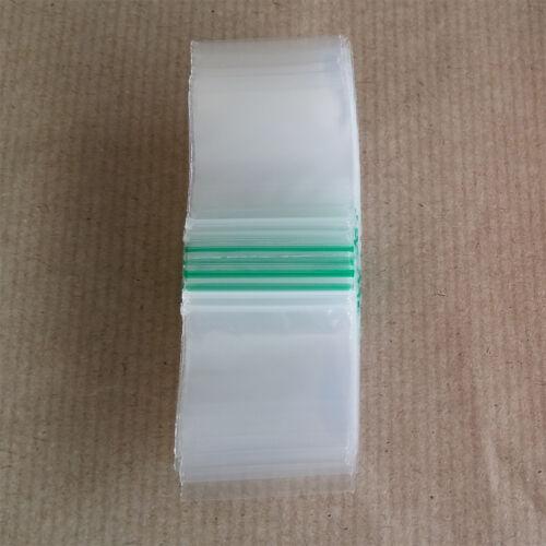50 x 50 mm Plastica TRASPARENTE Poly Grip Seal Bag riutilizzabile ZIP LOCK BAGS