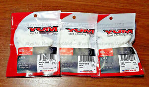 3-PACKS-WHITE-3-034-Yum-Twister-Curly-Tail-Grubs-15CT-Bass-Walleye-Northern-Crappie