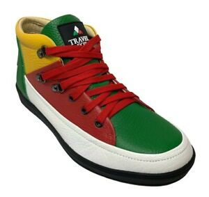 Travel Fox Men's Leather Red/Green