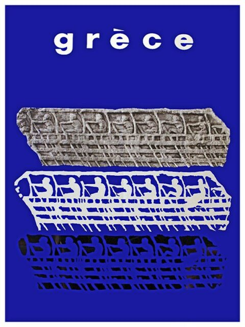 "Art Greece Travel Poster Greek Vintage Rare Hot New 12x18"" TR159"