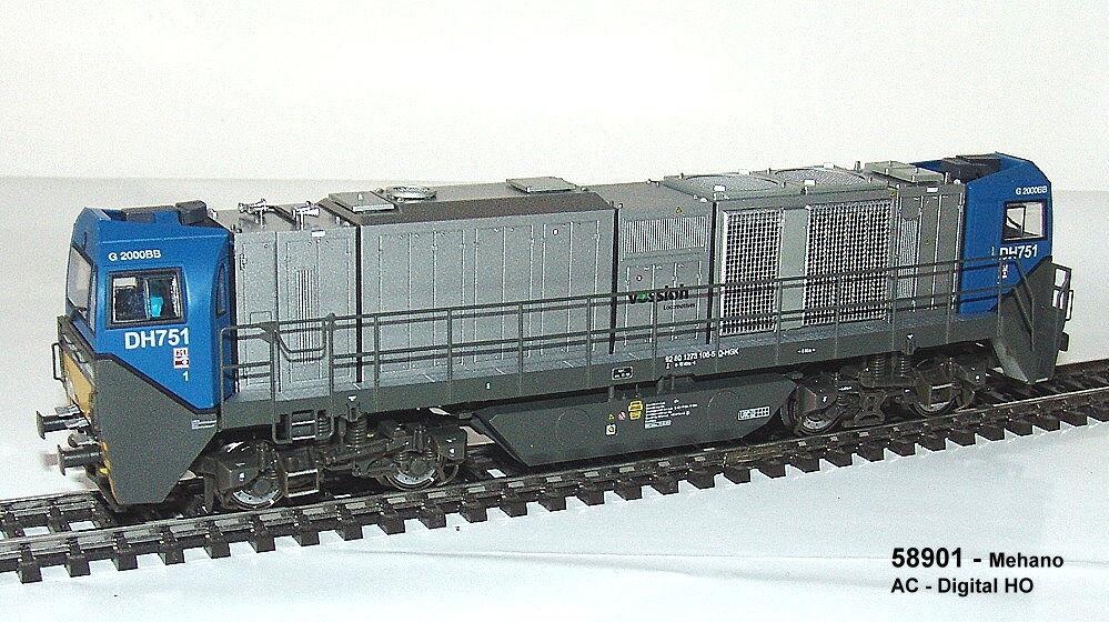 Mehano 58 - Locomotora Diésel G2018 Bb Asy. Cabina Del Conductor Hgk Ep.v