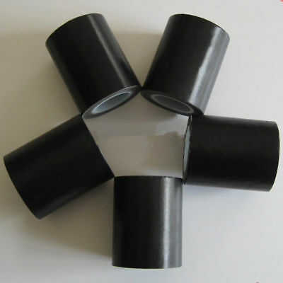 "Black Teflon Tape Heat Resistant Insulating Refractory Tape 4/"" x 33feet 180um US"