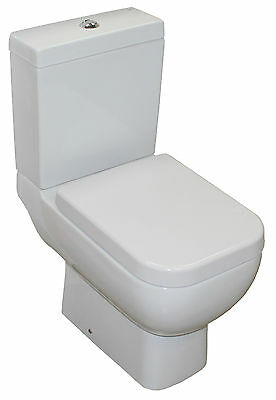 RAK SERIES 600 TOILET WC SOFT CLOSE SEAT SHORT PROJECTION PAN CLOAKROOM SMALL