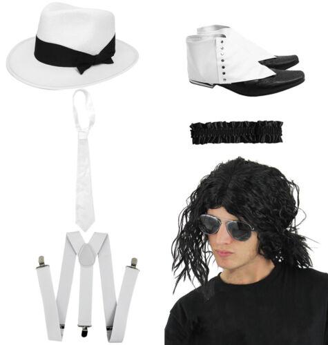 SMOOTH CRIMINAL 6 PIECE SET KING OF POP COSTUME JACKO FANCY DRESS OUTFIT