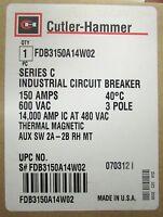 Cutler Hammer 150 Amp 3 Pole Fdb Breaker 2a-2b Auxiliary Contact Fdb3150a14w02