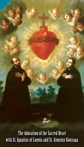 Details About St Aloysius Gonzaga St Ignatius Of Loyola Prayer Card Wallet Size