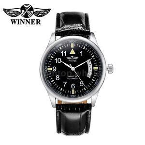 WINNER-Automatic-Mechanical-Watch-Self-winding-Men-Women-Leather-Wristwatch-G7F4