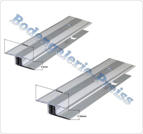 5-9mm oder 7-15mm Übergangsprofil 2-teilig Vinyl// Laminat// Parkett// Kork