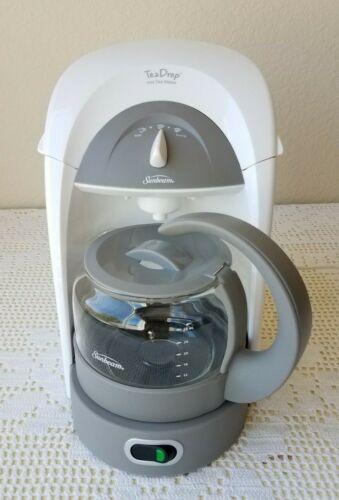Sunbeam Tea Drop Hot Tea Maker HTM3 Teadrop Brewer Machine White - Works Great