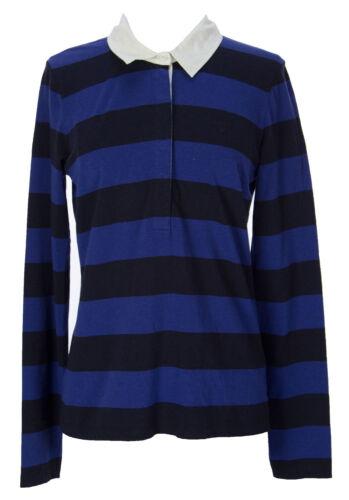 Gant Women/'s Marine Striped Melange Rugger Polo Shirt 404807 $128 NEW