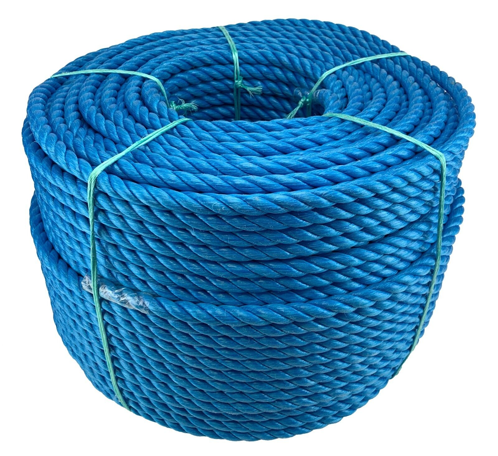 bluee 3 Strand Polypropylene Poly Rope 8mm, 10mm and 12mm Cheap Nylon Twisted