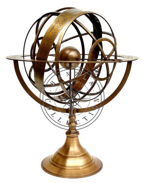 """Analytisch 18"""" Brass Armillary Sphere Messing Armillarsphäre Globen Nautische Astrolabium"""