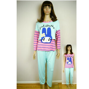 damen hello kitty miffy hase 3er set top hosen schlafanzug pyjama ebay. Black Bedroom Furniture Sets. Home Design Ideas