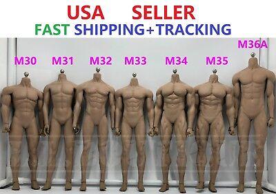 PHICEN 1//6 M34 Flexible Seamless Super Muscular Male Figure Body TBLeague USA