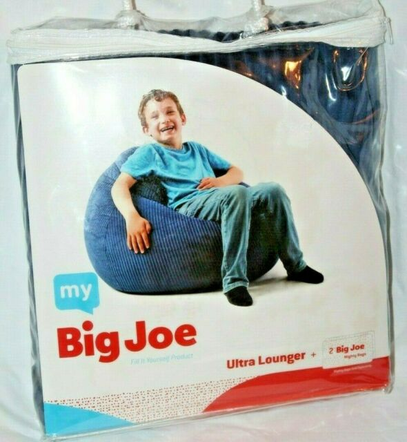 Incredible My Big Joe Kids Ultra Lounger Blue Bean Bag Chair Cover Frankydiablos Diy Chair Ideas Frankydiabloscom
