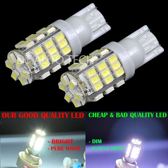 2X 6000K Xenon White T10 921 LED Lights Bulbs 1206 SMD 42LED