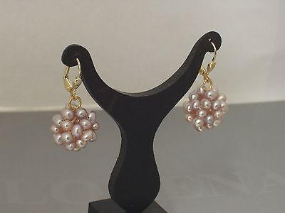 Ohrringe Ohrhänger Brisur Süßwasser Perlen 9x11mm creme-weiß 925 Silber Damen