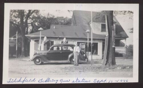 LITCHFIELD 3 Photo Snapshots Gas Station & Store 1946