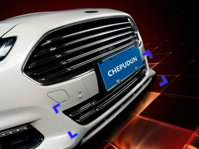 Chrome Front Grille Cover Trim for 2013 2014 2015 Ford Fusion