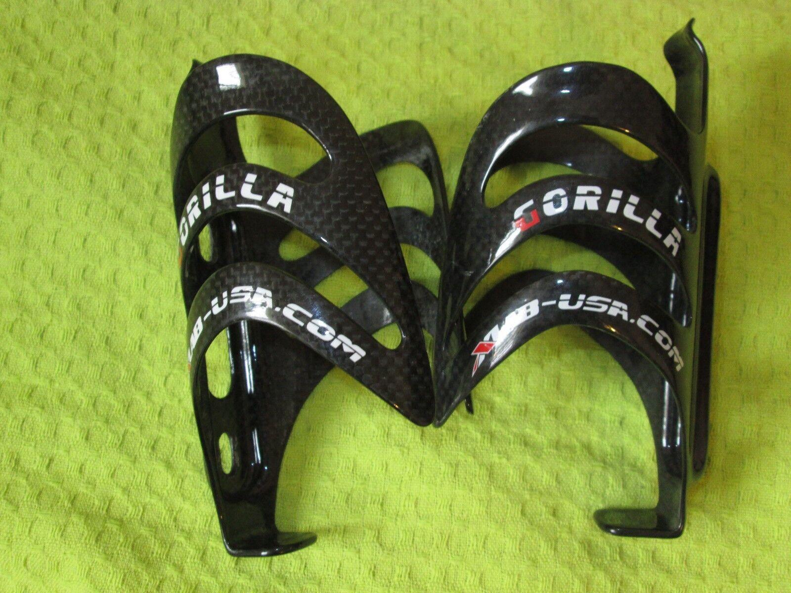 Qty 2 XLAB Two Gorilla Gloss autobon Water Bottle Cages strada CX Triathlon ciclismo
