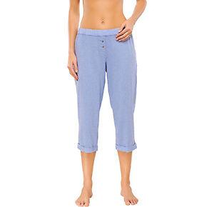 7960f5c77 Schiesser Mujer Mix & Relax Pantalón 3/4 PANTALONES de PIJAMA DORMIR ...
