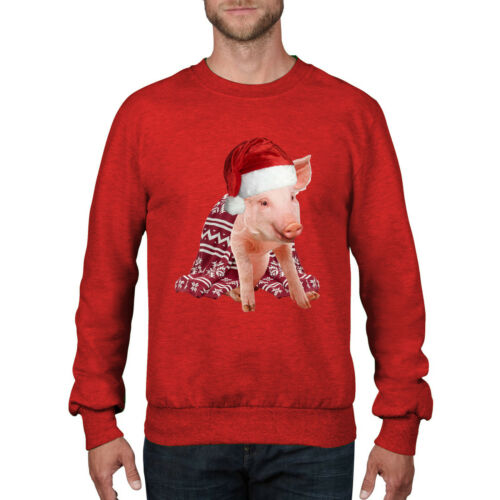 Pigs in Blanket Santa Claus Hat Funny Christmas Jumper Pig Sprout Gift Top CH47