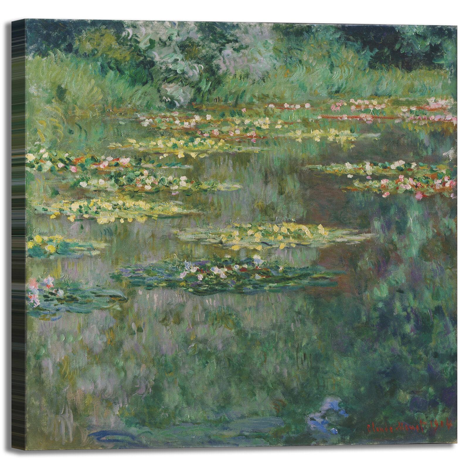Monet ninfee 67 design quadro stampa tela dipinto telaio arroto casa