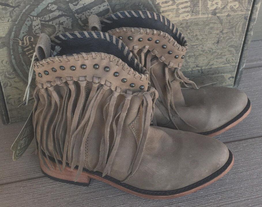 NEW NWOB Liberty Black Fringe Boots 6 Vegas Taupe SULB-713303 retail  280