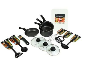 Étudiant Starter Set 14 Pcs Ustensiles De Cuisine Set Ustensiles De Cuisine Casseroles à Découper Planche-afficher Le Titre D'origine