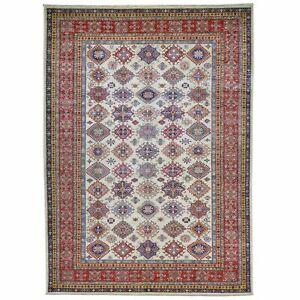 Hand-Knotted Caucasian Design Super Kazak Pure Wool Rug 8.6 X 11.9 Cwral-7074
